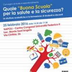 """25 febbraio 2016 – Convegno: Quale """"buona scuola"""" per la salute e la sicurezza?"""
